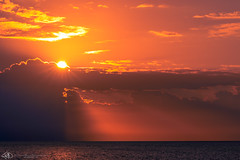 The Sun Bursting Through Over Long Bay (JeffreyJDavis) Tags: sonya7iii providenciales longbay sonya7m3 sonyalpha clouds horizon sunrise ilce7m3k ilce7m3 turksandcaicos sony yellow orange sonya7