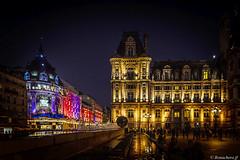 Paris by night-02 (bonacherajf) Tags: paris france bhv hôteldeville bynight nocturne