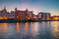 Gdansk at blue hour (Vagelis Pikoulas) Tags: gdansk poland europe travel holidays holiday canon 6d tokina 2470mm view landscape city cityscape urban reflection reflections sea seascape april spring 2019 architecture boat ship pirate