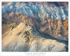 Colorful Desert Hills, Morning (G Dan Mitchell) Tags: multi colored blue red eroded hills deathvalley strata national park desert rugged morning light twenty muleteam canyon landscape nature travel california usa north america