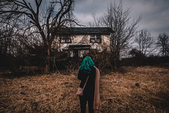(Jeffrey Stroup) Tags: exploring trespassing urbex urbanexploration canon abandoned decay ruins forgotten portrait girl woman greenhair spooky creepy