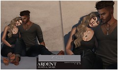 Ardent Poses - Content AD (Ardent Poses) Tags: secondlife second life sl avatar 2nd 2ndlife avi virtual vr 3d inworld poses pose ardent photography people exclusive avatars event love couple couples release new hold broderick logan ena roane enaroane bento advertisement sales ardentposes posefair fair