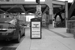 Invest in yourself (streetravioli) Tags: street photography chicago warren buffet dos toros taqueria guacforabuck guac for buck chevy impala solar compactor