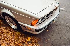 E24 shark nose (Andrey Baydak) Tags: bmw 6series 6er e24 classic 1980s 1988 shark sharknose carcorners fender millemiglia 1000miglia 635 635csi m30b35 inlinesix autumn осінь осень herbst fall leaves orange automotive 2470