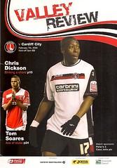 Charlton Athletic v Cardiff City (Charlton Athletic Programmes) Tags: charlton charltonathletic cardiffcity cardiff postponed 0809