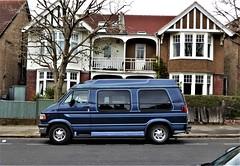 A Stranger in Suburbia. (ManOfYorkshire) Tags: 1994 dodge ram camper van 5200cc petrol engine m473xku hove american usa parked onstreet sussex england gb uk suburbia exotic stranger