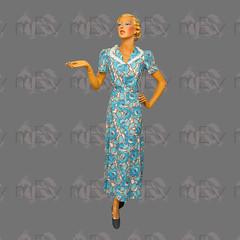 1930s Floral Print Cotton House Dress (Rickenbackerglory.) Tags: vintage 1930s siegel mannequin floralprint cotton housedress