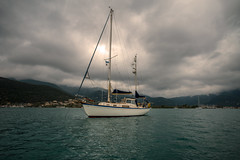 Not a bad place to drop the hook...... (Dafydd Penguin) Tags: hallberg rassy sailboat sail boat sailing vessel ship cruise yacht yachting cruising anchor anchorage lefkas levkas lefkada vlikho ormos lagoon leica m10 21mm super elmar f34