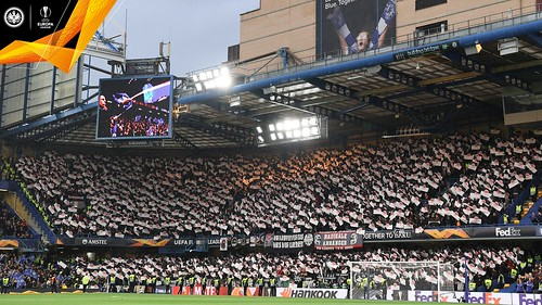 Eintracht Frankfurt - Europa League semi-final v Chelsea - Fans' display in stadium