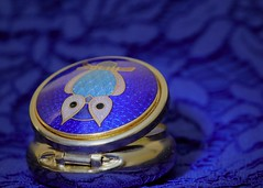 When the world seems a little back-to-front and upside-down (kerwitcherwoo) Tags: blueforyoume2019 smileonsaturday stilllife blue owls