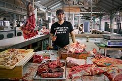 Mauritius Port Louis IV (stega60) Tags: mauritius ilemaurice market markethall meat beef butcher portlouis blood knife message itsnotjustblooditsliquidlife stega60