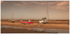Beached. (Ian Emerson (Thanks for all the comments and faves) Tags: lowtide beach boats wellsnextthesea norfolk seascape sand canon canon6d 24105 water sea evening clouds reflection