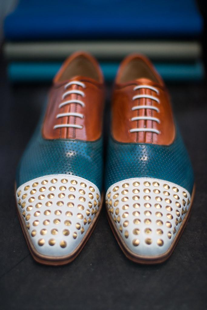 2b4ea0e4fa Fancy tricolor shoes with small metal spikes (Ivan Radic) Tags: fancy  lederschuhe metalldorn