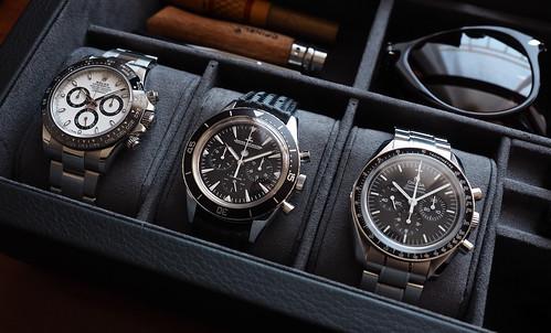 Rolex, Jaeger LeCoultre, Omega
