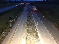 Crews grinding up old concrete panels (WSDOT) Tags: wsdot paving i5 skagit county snohomish starbird road sr 530 concrete panels concretepanelreplacement graham construction work zone safety building vehicle ab