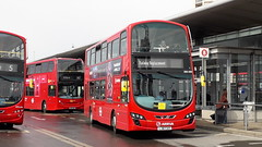DW490, LJ61CAX on Railway Replacement in Canning Town Bus Station (EastBeckton372) Tags: dw490 lj61caa railway replacement