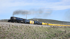 UP Big Boy 4014 and UP 844 Near Leroy, WY! (844steamtrain) Tags: 844steamtrain up union pacific 4014 big boy steam locomotive engine train trains 3985 844 sp 4449 photo photography metal machine prr 5550 t1 trust travel tourism adventure events science technology history america usa google facebook youtube video camera videos flickr most popular shared views viewed galore viral culture trending relevant related recommended trump news new best flying scotsman mallard lner biggest largest heaviest top railroad railway