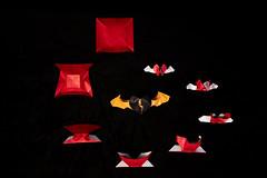 The way of love (Djangorigami) Tags: bellecombeenbauges savoie france origami art pliage fold folding artist heart love way red white black orange sculpture wing ligthning shock spiral paper
