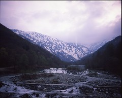 (✞bens▲n) Tags: mamiya 7ii provia 100f 80mm f4 film analogue 6x7 gunma japan mountains river spring landscape