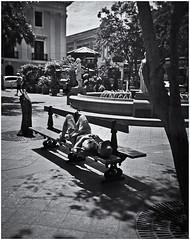 Lomography (Samy Collazo) Tags: lomography lomografia lomo debonair kodakbw400cnexp2007 kodakd76 banco bench sanjuan oldsanjuan viejosanjuan rico puertorico bn bw toycamera camaradejuguete plasticcamera camaradeplastico plazadearmas