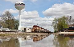 British reflections (gsebenste) Tags: britishcolumbiarail bcol bnsf trains reflection shabbona illinois
