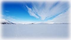 Clouds on the frozen lake (Abisko, Sweden) (armxesde) Tags: pentax k3 schweden sweden norrboten lappland lapland winter snow schnee abisko lake see torneträsk himmel sky cloud wolke frozen gefroren ricoh