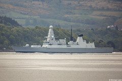 Royal Navy Type-45 destroyer HMS Defender, D36, IMO 4907878; Firth of Clyde, Scotland (Michael Leek Photography) Tags: ship warship nato navalvessel natoexercise destroyer guidedmissiledestroyer vessel rn royalnavy britainsarmedforces britainsnavy type45 hmnbclyde hmnb faslane gareloch clyde hmsneptune firthofclyde scotland scottishlandscapes scottishcoastline scotlandslandscapes scottishshipping westcoastofscotland westernscotland cowal cowalpeninsula strone holyloch formidableshield exerciseformidableshield portsmouth michaelleek michaelleekphotography