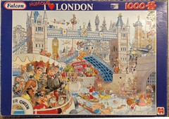 """F ? 1000 HUMOUR' 68X49CM ART ? I (heart) LONDON BC, D/L (Andrew Reynolds transport view) Tags: jigsaw """"jigsaw puzzle"""" picture pieces large difficult falcon hobby leisure pasttime f1000humour68x49cmartiheartlondon{ar}bc dl"""
