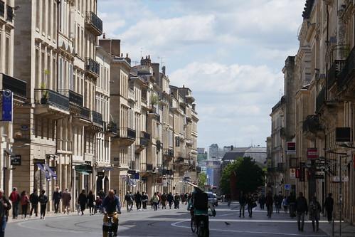 Un dimanche en ville, cours de l'Intendance, Bordeaux, Gironde, Nouvelle-Aquitaine, France.