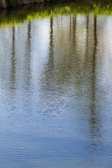 painted on the water (iwona.kilichowska) Tags: water reflection nature blue abstract composition outdoor outside colours