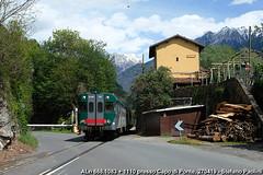 Hey you, up there! (di Stefano ©Praz Paolini) Tags: aln railcar dmu 668 trenord ferrovie nord milano iseo brescia edolo