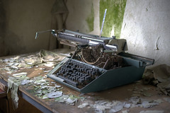 (jkatanowski) Tags: abandoned forgotten lost lostplace decay derelict decaying decayed indoor interior thing typewriter sony a7m2 50mm urbex urban exploration europe