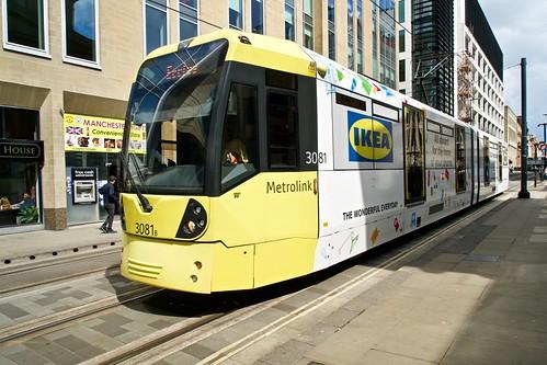 IKEA liveried tram 3081. Manchester Metrolink.