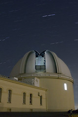 Explore the Stars (elektron9) Tags: lickobservatory photonight lick observatory astronomy california cali ca us usa westcoast santaclara mounthamilton bayarea sfbay sanfranciscobayarea evening night stargazing astro photo heights greatlickrefractor telescope dome stars sky low light startrails lights trails composite