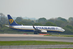 Ryanair Boeing 737-8AS(WL) EI-EKT - Manchester Airport (dwb transport photos) Tags: ryanair boeing areoplane eiekt manchesterairport mancheser