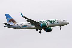 A320.N347FR (Airliners) Tags: frontier frontierairlines 320 a320 a320neo airbus airbus320 airbusa320 airbusa320neo steer longhornsteer lonestarthelonghornsteer iad n347fr 51119