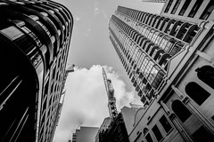 DSC00788 (Damir Govorcin Photography) Tags: sydney cbd blackwhite monochrome buildings wide angle architecture sony a7ii zeiss 1635mm sky clouds