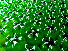 Green Abstract (JRW Photo Gallery) Tags: plastic bottles abstract green reflections