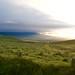 Mauna Loa over saddle from Mauna Kea Green Grass Kona side sunset DSC_0350 (1)