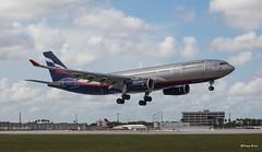 Airbus A330-200 (VQ-BBE) Aeroflot (Mountvic Holsteins) Tags: airbus a330200 vqbbe aeroflot mia miami international airport florida