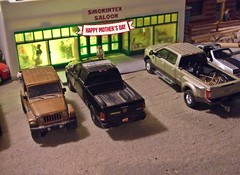 Mother's Day 2019 (THE RANGE PRODUCTIONS) Tags: greenlight johnnylightning preiser motorcycle jeepwrangler ram1500 dioramas diecast diecastdioramas dodge fordf350 fordmustang hoscalefigures model toy display