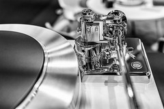 Metallic High-Tech (*Capture the Moment*) Tags: 2019 audio exhibition fair fotowalk highend mai may messe munich music musik münchen plattenspieler sigma11416mmdcdn sonya6300 sonyilce6300 technik technology turntable monochrome schwarzweiss