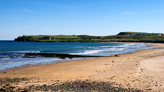 Sandy beach at Portballintrae (Photographs and Images of Northern Ireland) Tags: beach antrim holidays portballintrae bushmills tourists whisky