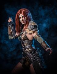 Aela the Huntress (adenry) Tags: aela huntress elder scrolls cosplay costume portrait girl studio smoke game aniventure comiccon