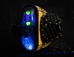 WA:59 - The Wasp (gonkius) Tags: moc spaceship lego wasp hornets bee uv led flame fire