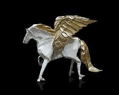 Pegasus (Al3bbasi.) Tags: al3bbasi animal art design fantasy horse kamiyasatoshi mythical origami object paper pegasus sculpture tenma wingedhorse winged