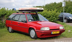 Citroën BX 16 TGI Break 1993 (XBXG) Tags: hgrb75 citroën bx 16 tgi break 1993 citroënbx stationcar stationwagen station wagon kombi estate red rood rouge citromobile 2019 citro mobile carshow expo haarlemmermeer stelling vijfhuizen nederland holland netherlands paysbas youngtimer old french car auto automobile voiture ancienne française france frankrijk vehicle outdoor