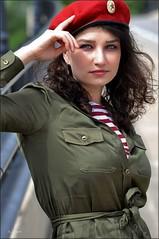 Кононова: Red Army (Images by A.J.) Tags: model fashion editorial russian soviet military army red beret telnyashka ekaterina kononova west virginia spring