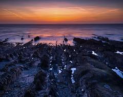 Long gone (Through Bri`s Lens) Tags: northdevon croyde sunset beach rocks contrail beachphotography brianspicer canon5dmk3 canon1635f4