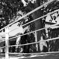 Strolling (lesphotosdepatrick) Tags: streetphotography blackandwhitephotography candidshot acrosfilm x100f fujifilm fujixlovers saintquentinlapoterie gard gardtourisme